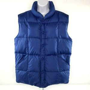 LANDS' END Mens Vest Puffer Down Size M 38-40
